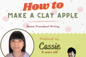 How to Make a Clay Apple by Cassie